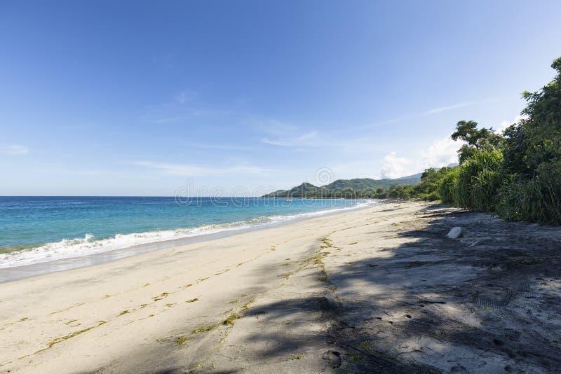 Praia vazia em Paga foto de stock
