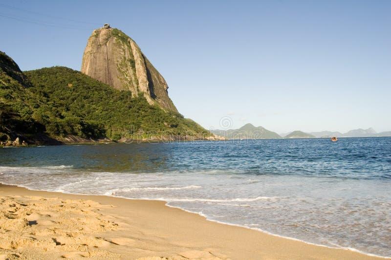 Praia Vermelha immagine stock