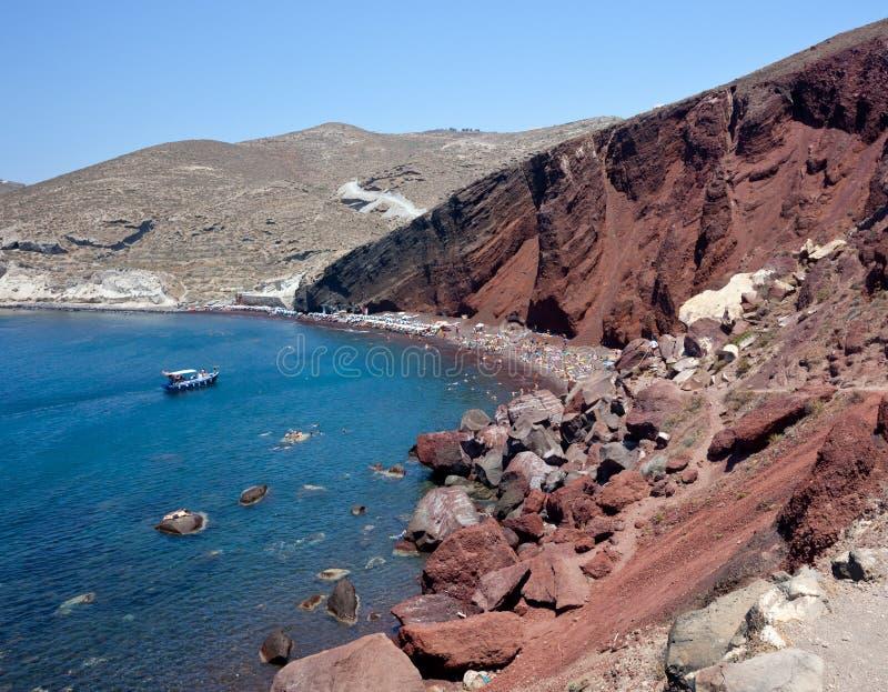 Praia Vermelha - Ilha De Santorini - Greece Foto de Stock Royalty Free