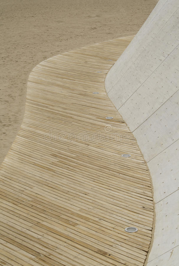 Praia walkwsy imagem de stock