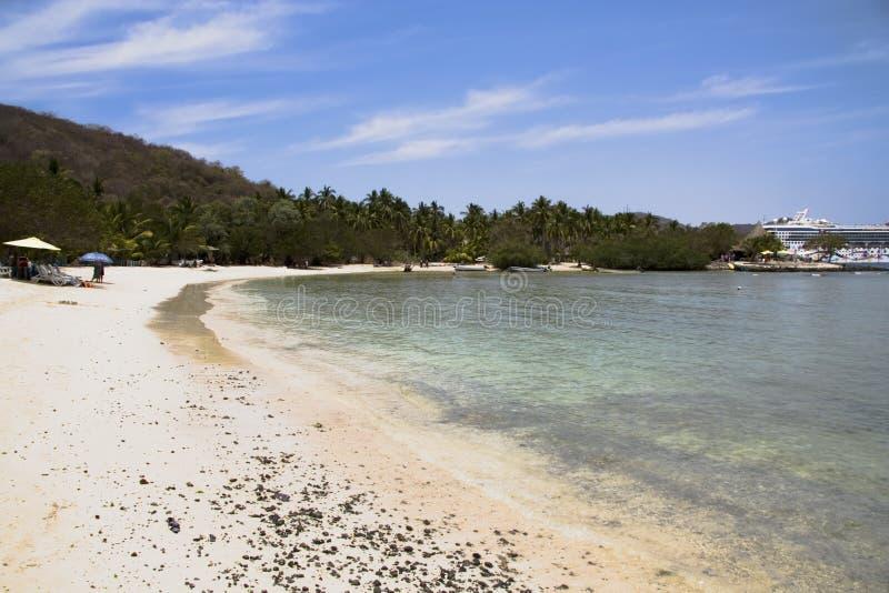 Praia Zihuatanejo do Los Gatos, M fotografia de stock royalty free