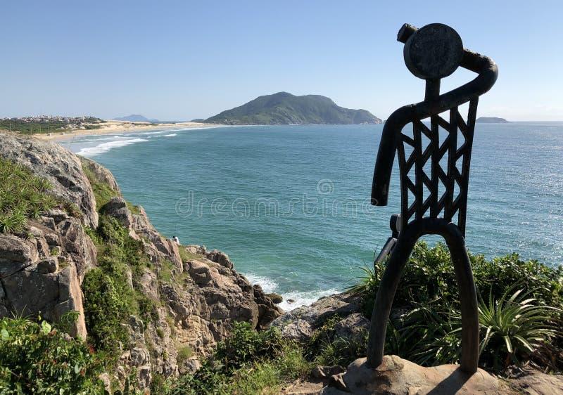 Praia ZK do ` s de Santinho imagens de stock