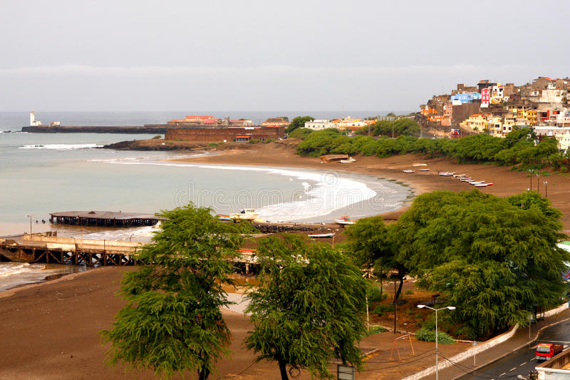 Praiabaai in Kaapverdië stock fotografie