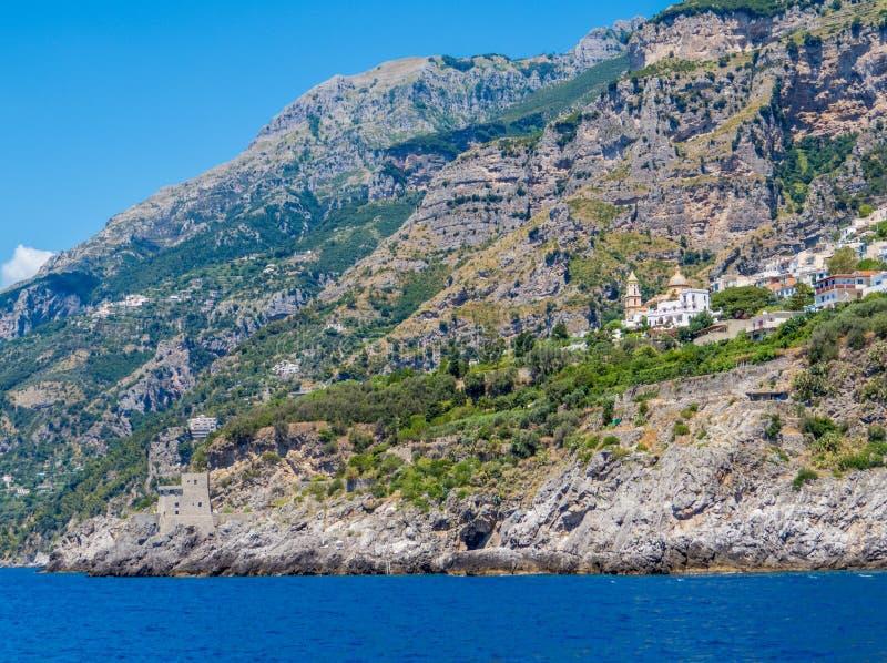 Praiano, побережье Амальфи, Италия стоковые фотографии rf