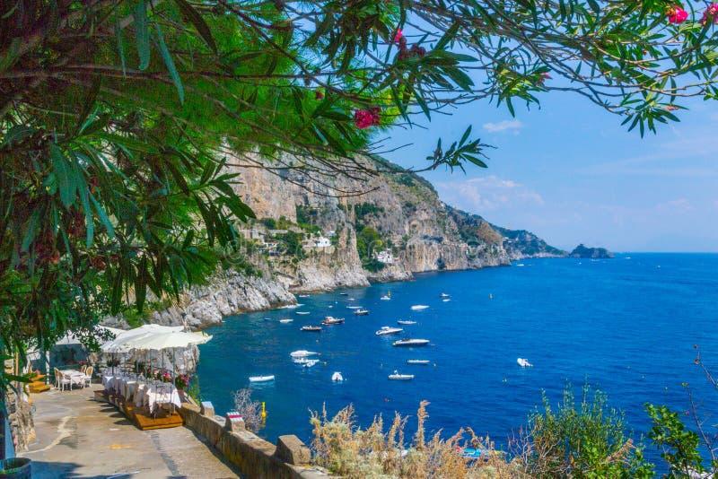 Praiano-costiera amalfitana lizenzfreies stockfoto
