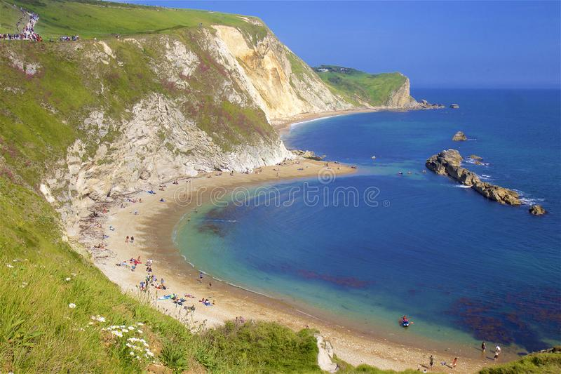 Praias bonitas de Dorset, Reino Unido fotos de stock royalty free