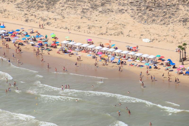 Praias de Alicante, vistas aéreas Costa da Espanha imagens de stock royalty free