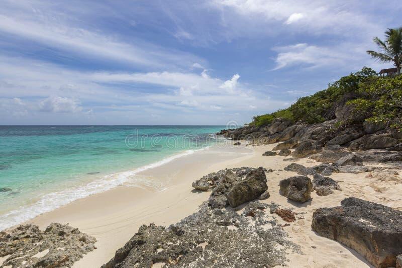 Praias de Anguila: Baía do banco de areia fotos de stock royalty free