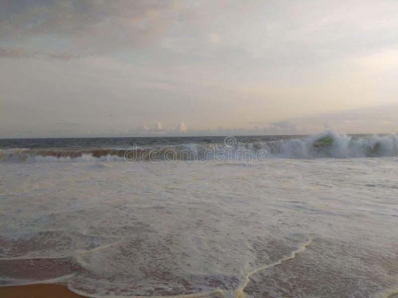 Praias de Kerala da Índia uma do mais limpo e frio fotos de stock