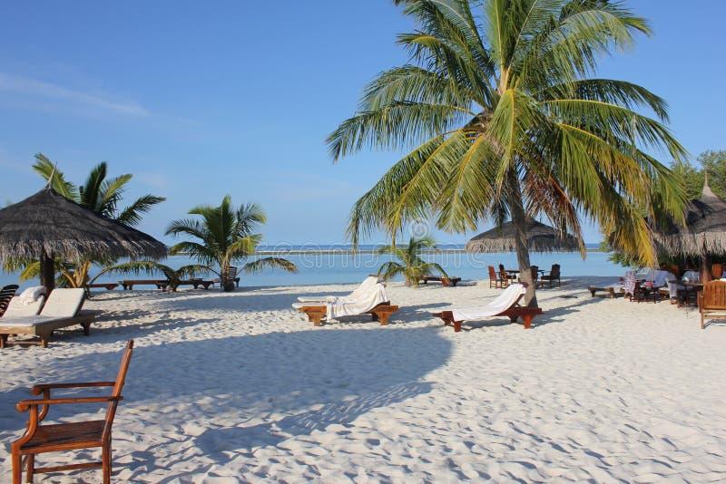 Praias de Maldivas imagem de stock