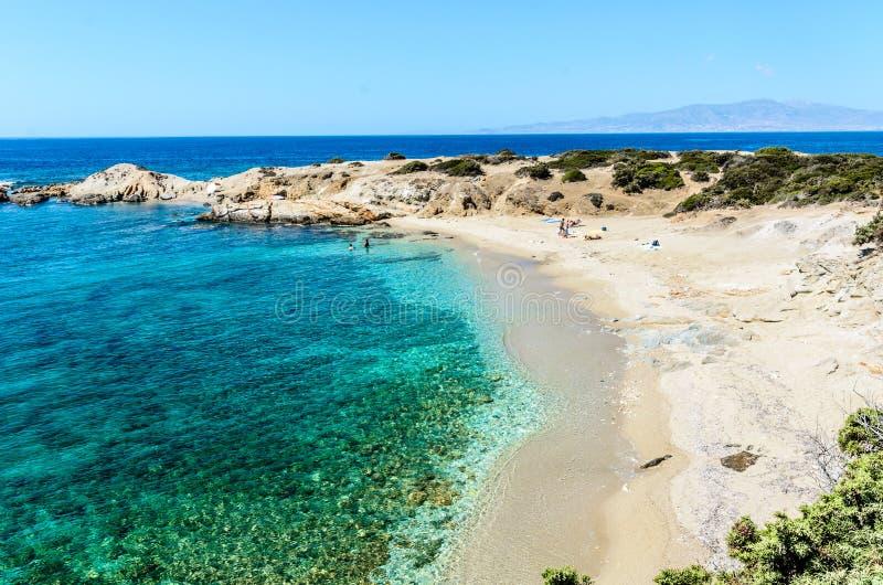 Praias de Naxos, Grécia fotos de stock