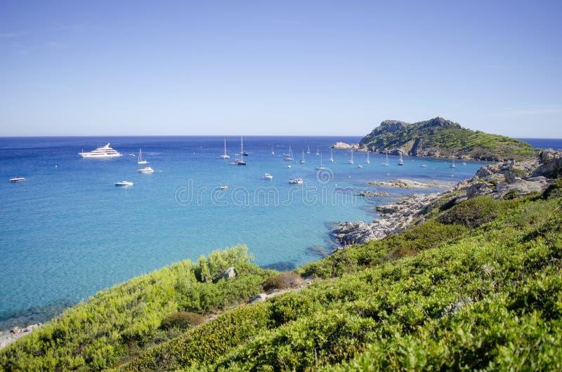 Praias de riviera francês, perto a St Tropez foto de stock royalty free