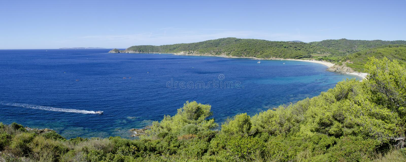 Praias de riviera francês, perto a St Tropez imagens de stock royalty free