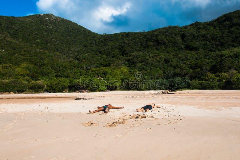 Praias na ilha dos florianopolis, em Brasil sul foto de stock royalty free
