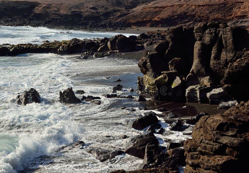 Praias selvagens, Ilhas Canárias foto de stock