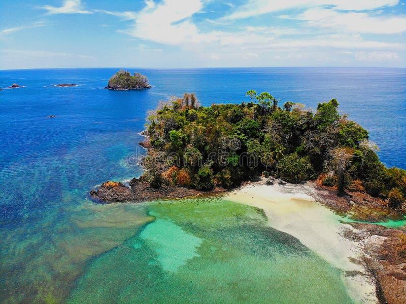 Praias tropicais em Panamá, o melhor lugar a relaxar imagem de stock