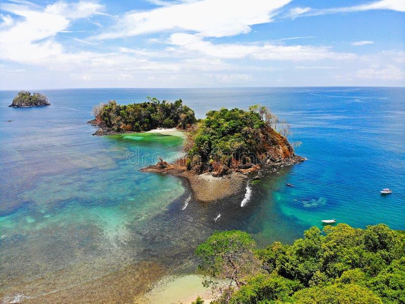 Praias tropicais em Panamá, o melhor lugar a relaxar imagens de stock royalty free