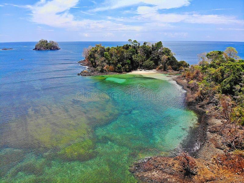Praias tropicais em Panamá, o melhor lugar a relaxar fotos de stock