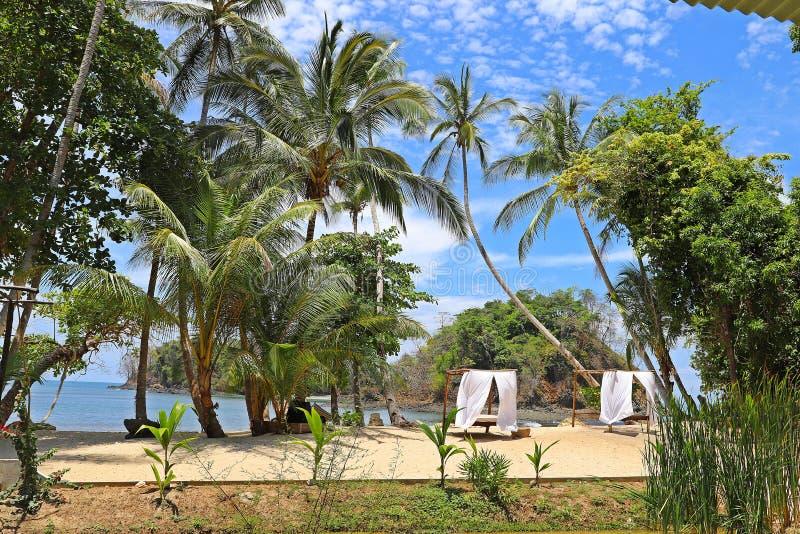 Praias tropicais em Panamá, o melhor lugar a relaxar fotos de stock royalty free