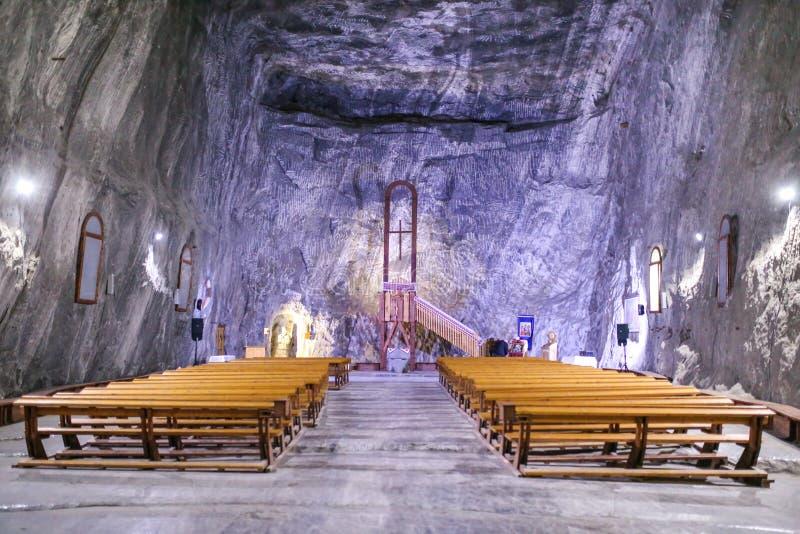 Praid, Rumänien - Innenkapelle im Salzbergwerk-Museum von Praid stockfoto