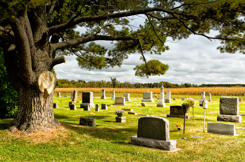 Prairie Cemetary royalty free stock images