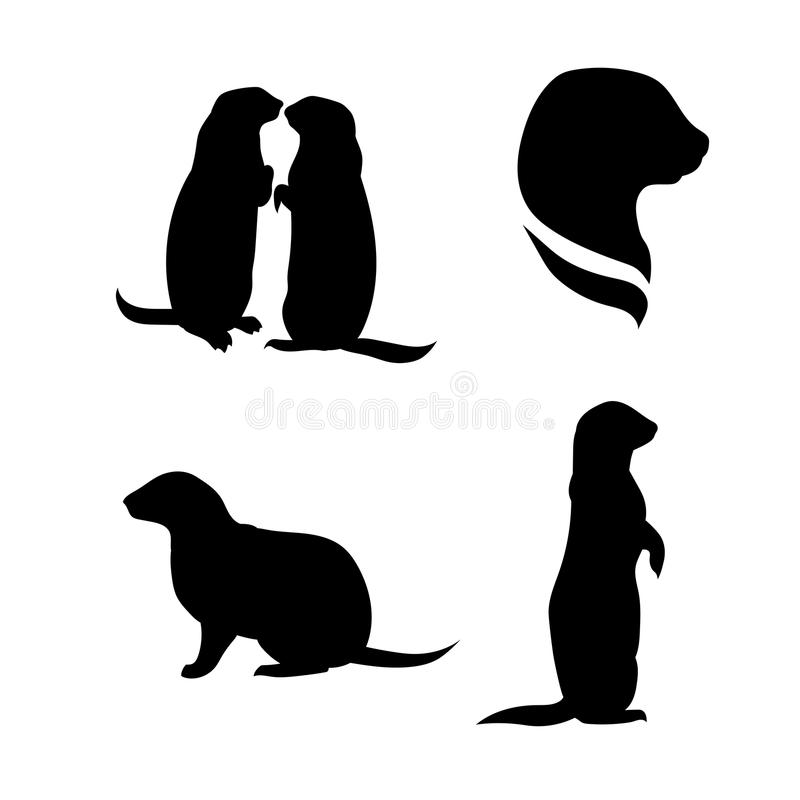 Free Prairie Dog Vector Silhouettes Stock Photos - 56781783