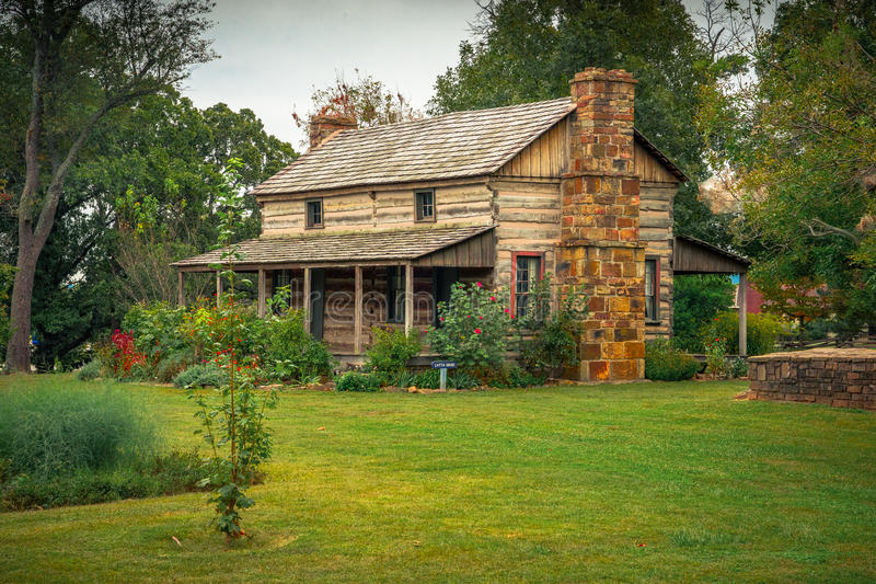 Prairie Grove Battlefield State Park. Latta House is a historic house from the Civil War period and is located at the Prairie Grove Battlefield State Park royalty free stock image