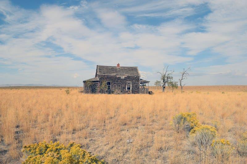Prairie house stock photo