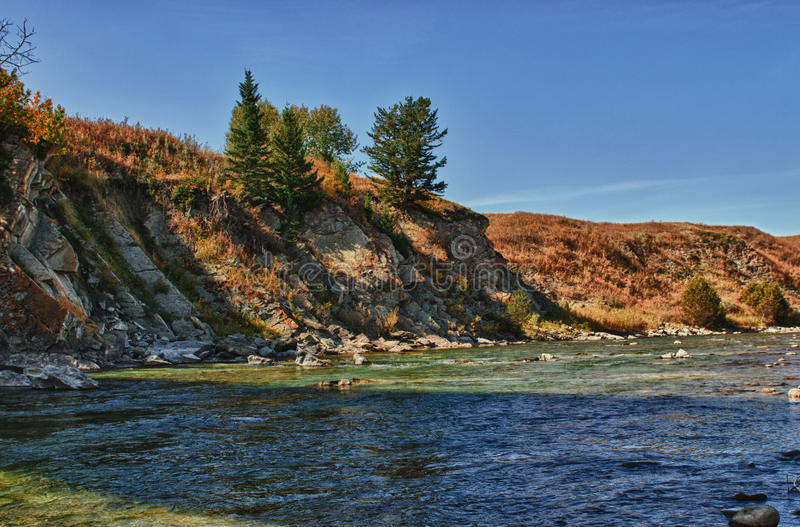 Download Prairie River stock image. Image of stream, fall, grass - 28623969