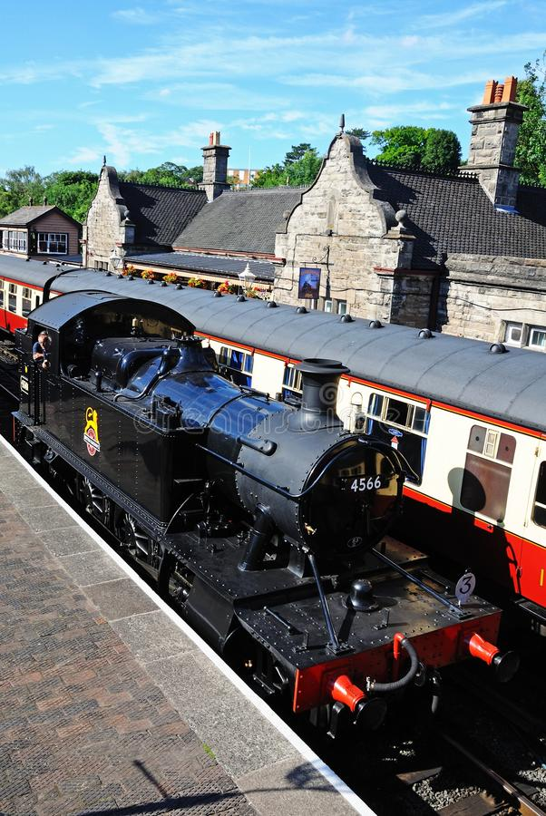 Prairie Tank Steam Locomotive, Bridgnorth. royalty free stock images