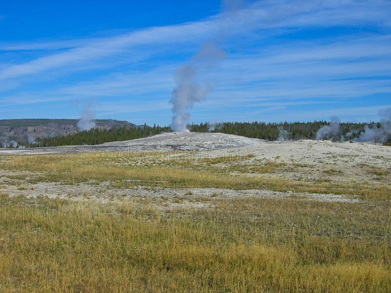 the prairie in the yellowstone park royalty free stock images