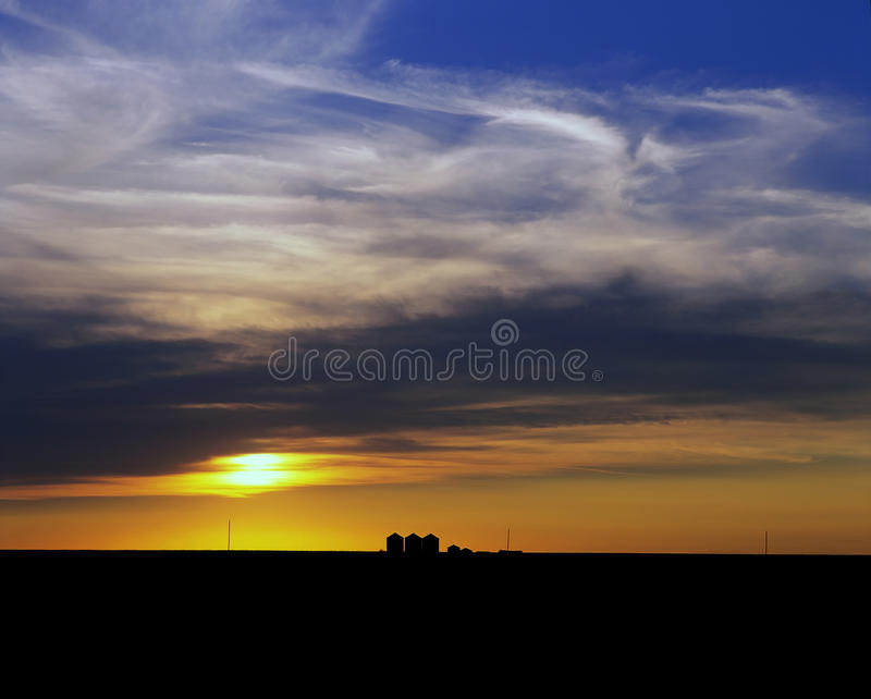 Prairies - Zonsondergang stock afbeeldingen