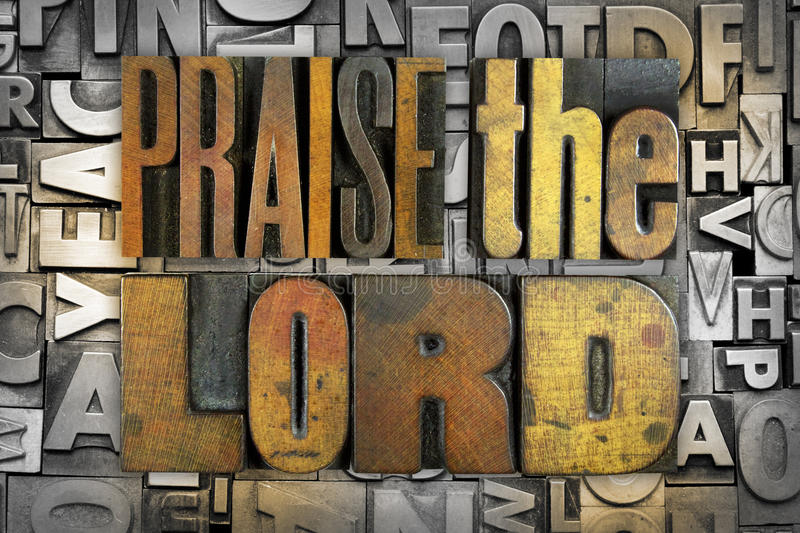 Praise the Lord royalty free stock images