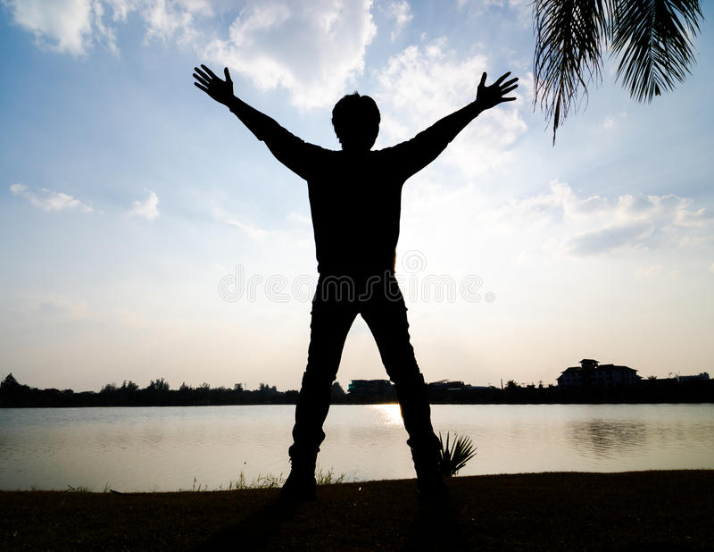 Praise in the sky background. stock images