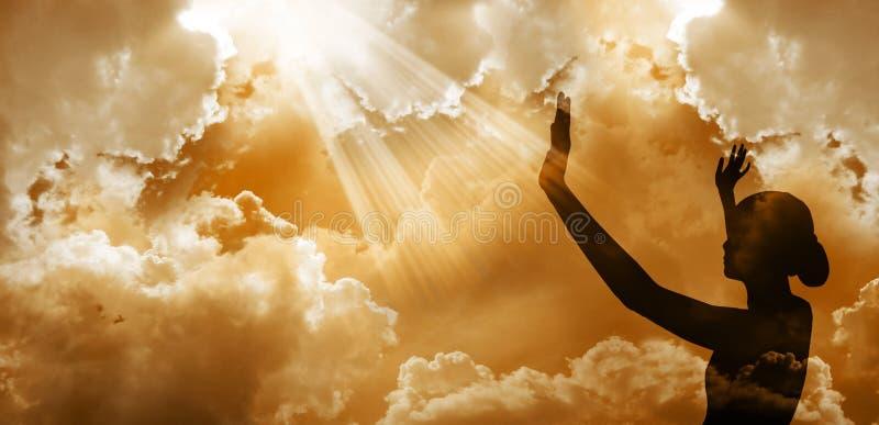 Praising God stock photos