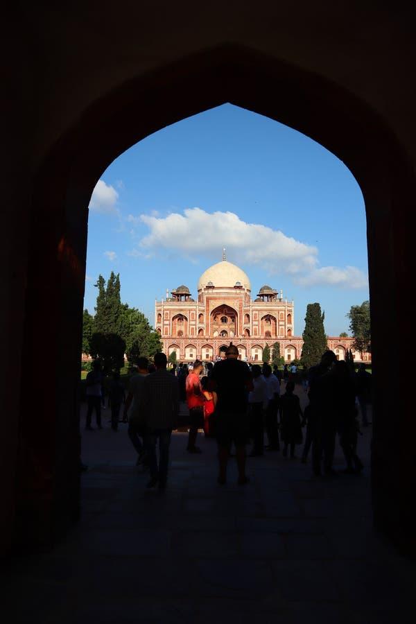 Prakt av historiska monumentHumayuns gravvalv p? New Delhi - bild royaltyfria foton