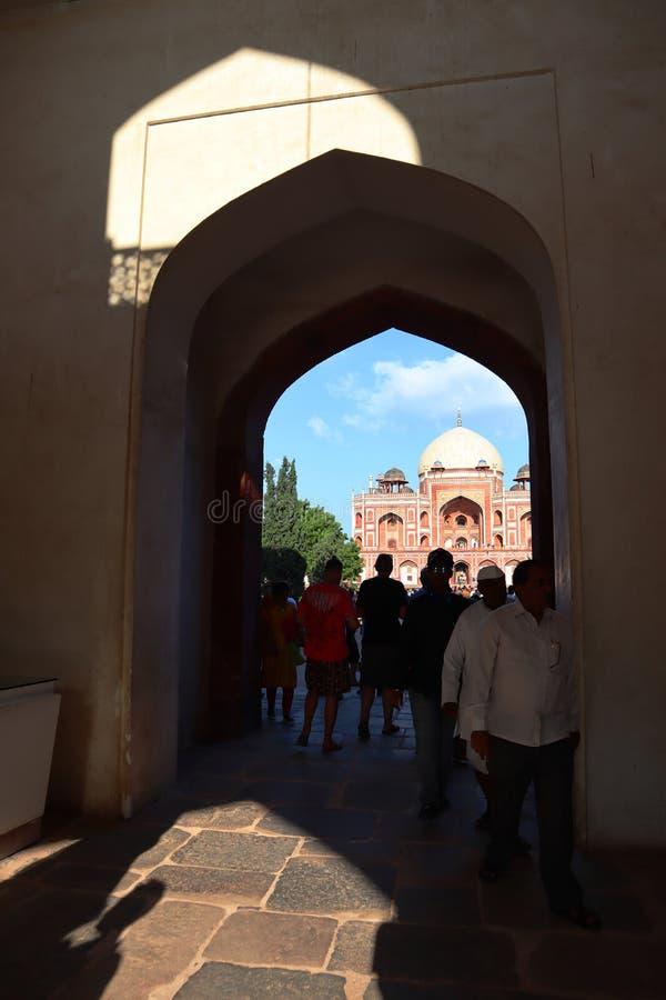 Prakt av historiska monumentHumayuns gravvalv p? New Delhi - bild arkivfoto