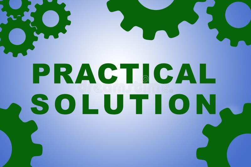 Praktisches Lösungskonzept vektor abbildung