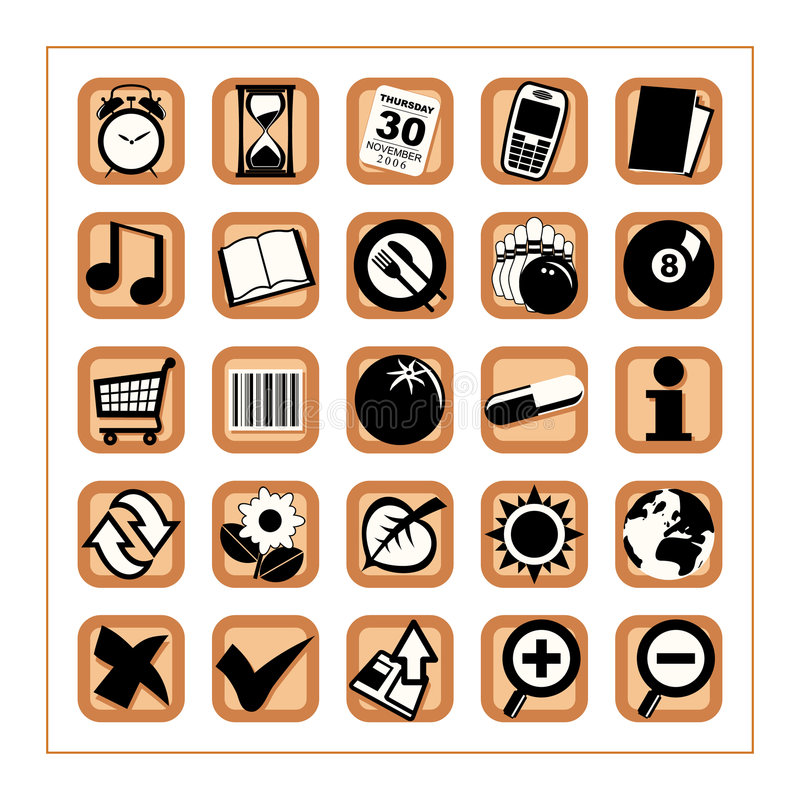 praktisk version för 2 symboler vektor illustrationer