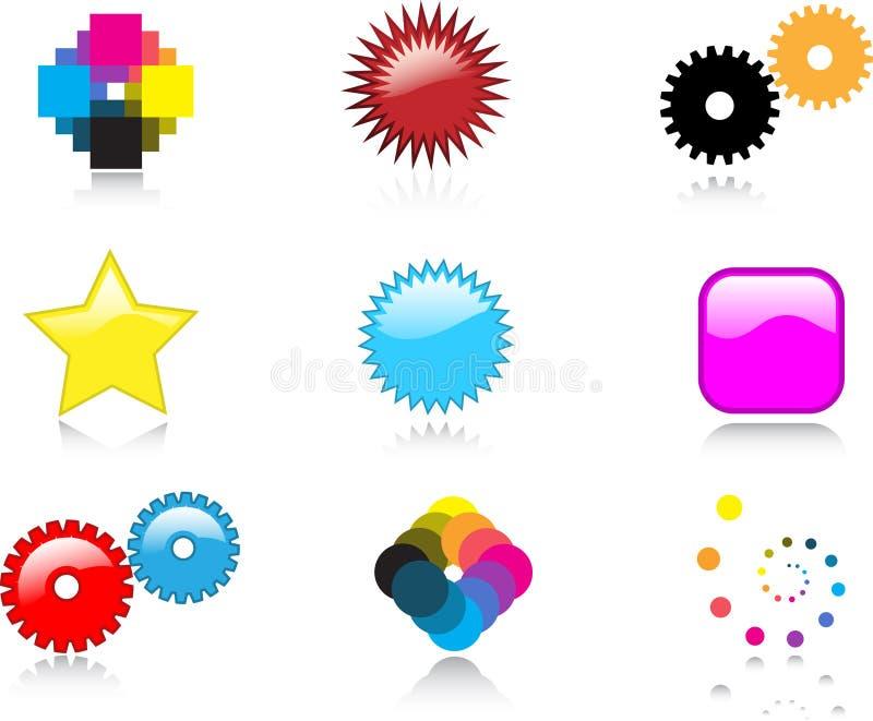 praktiska logoer vektor illustrationer