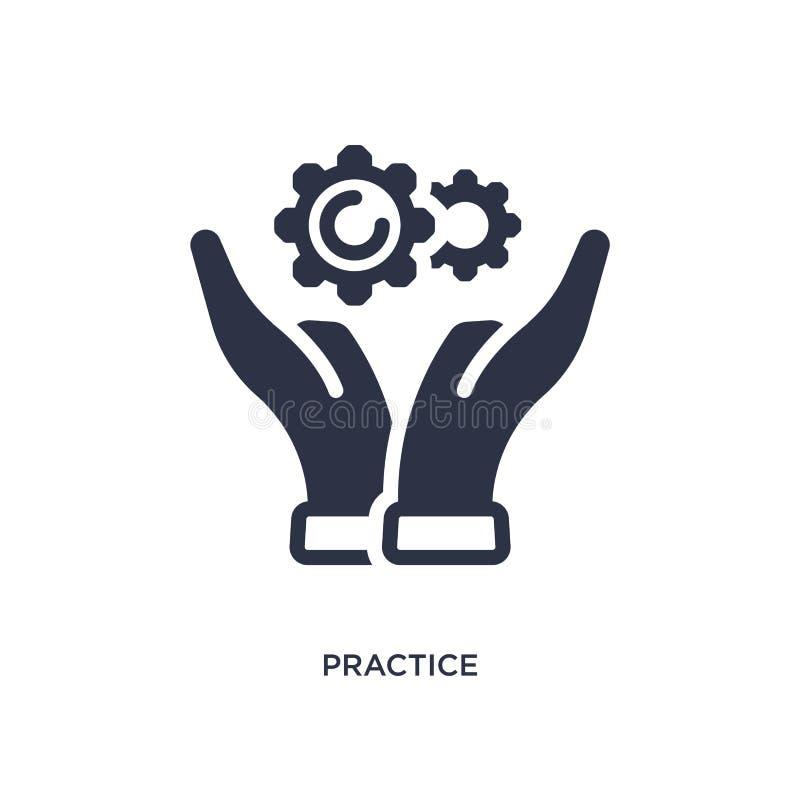 praktyki ikona na białym tle Prosta element ilustracja od produktywności pojęcia ilustracja wektor