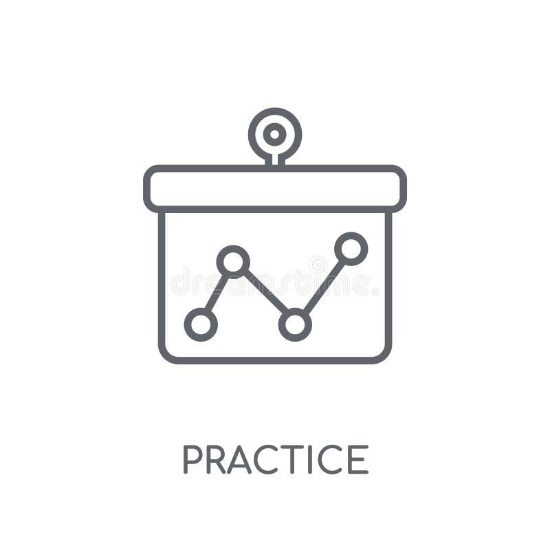 Praktyki liniowa ikona Nowożytny kontur praktyki logo pojęcie na wh ilustracji