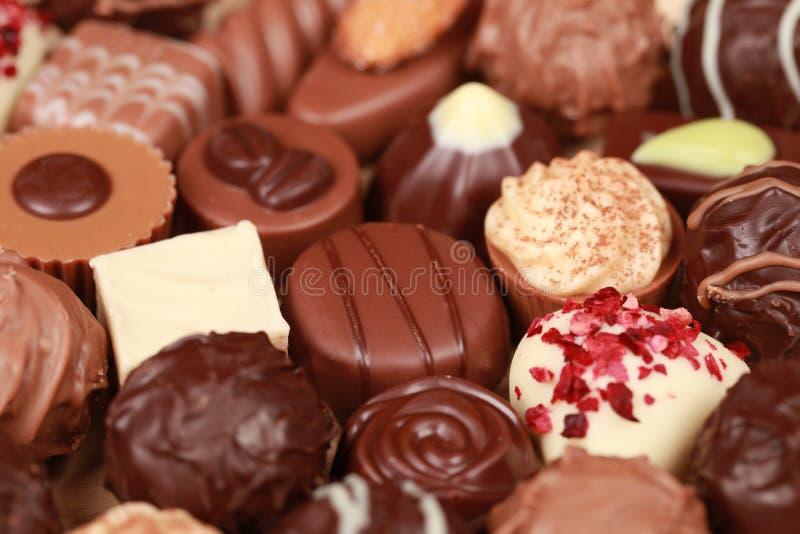 Praline del cioccolato fotografie stock libere da diritti