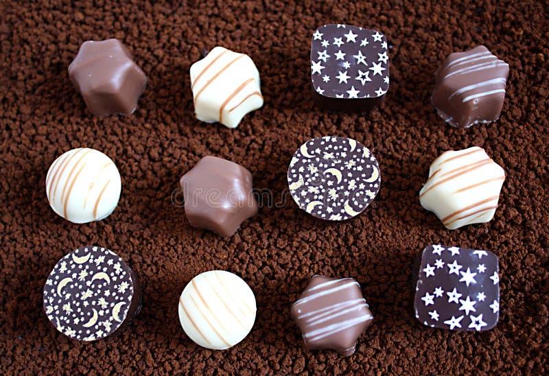 Pralines de chocolat photo libre de droits