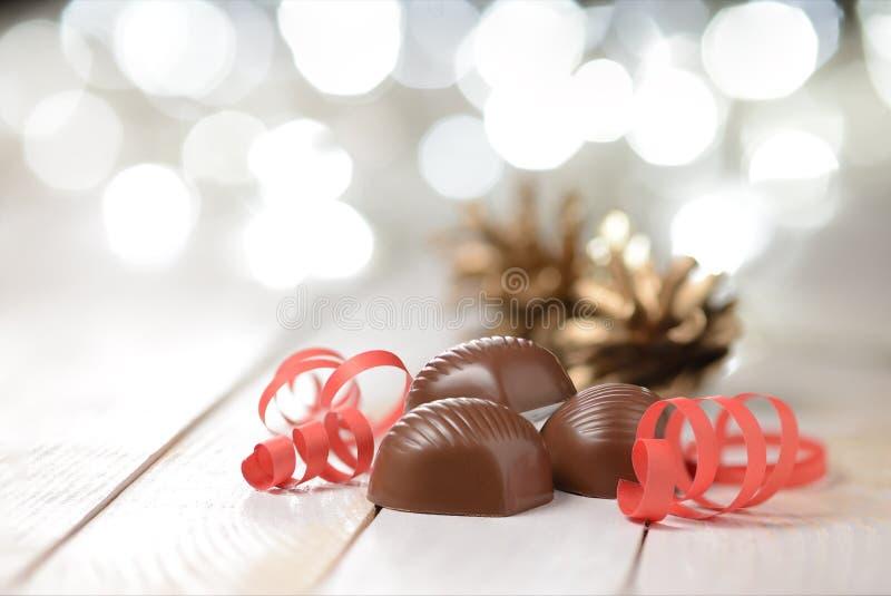 Pralines de chocolat image stock