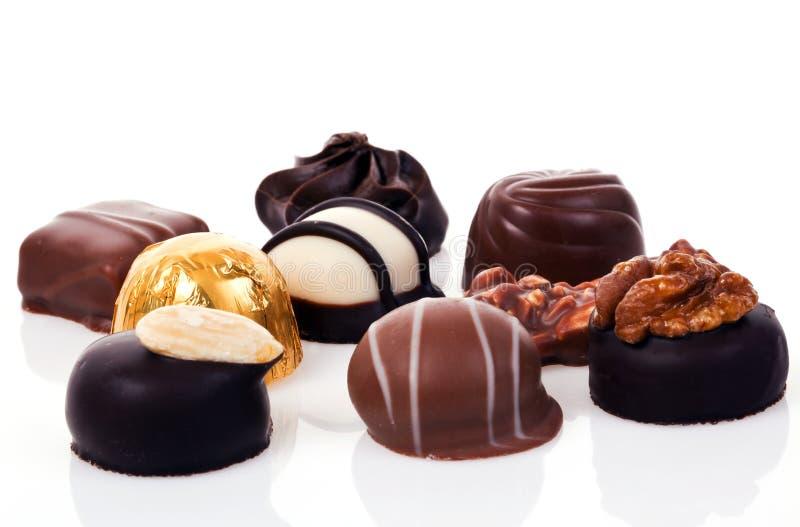 Pralines do chocolate imagens de stock royalty free