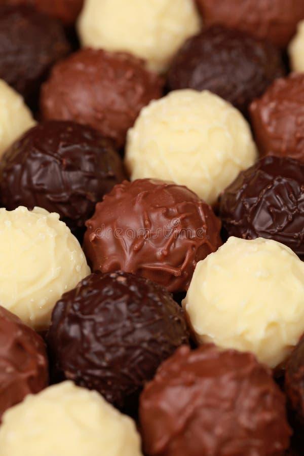 Pralines do chocolate foto de stock royalty free