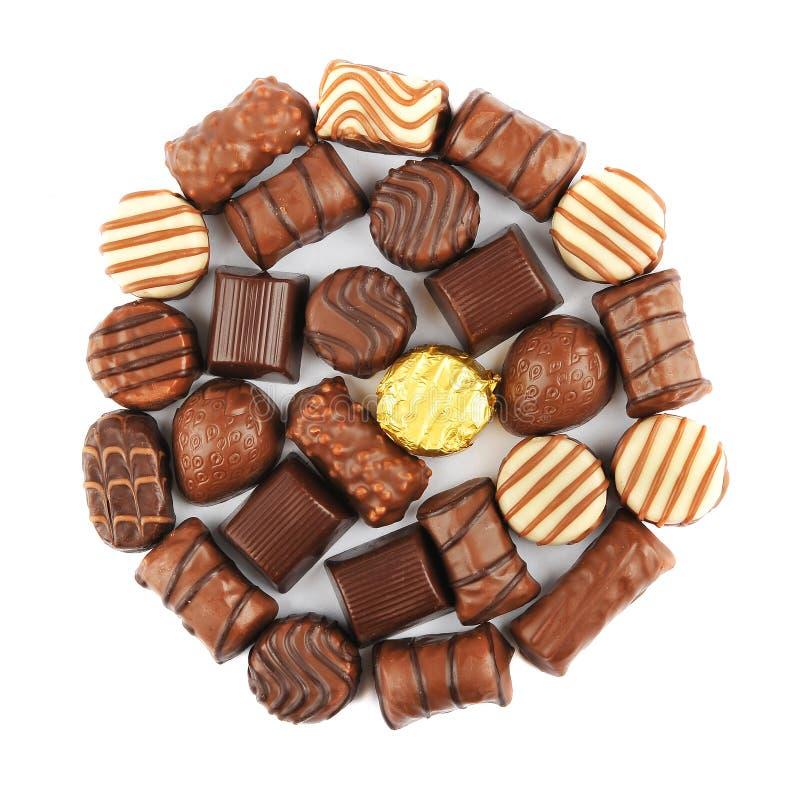 Pralines do chocolate fotografia de stock