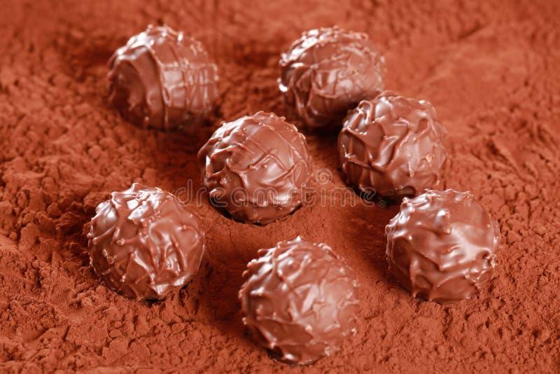 Pralines do chocolate de leite fotografia de stock