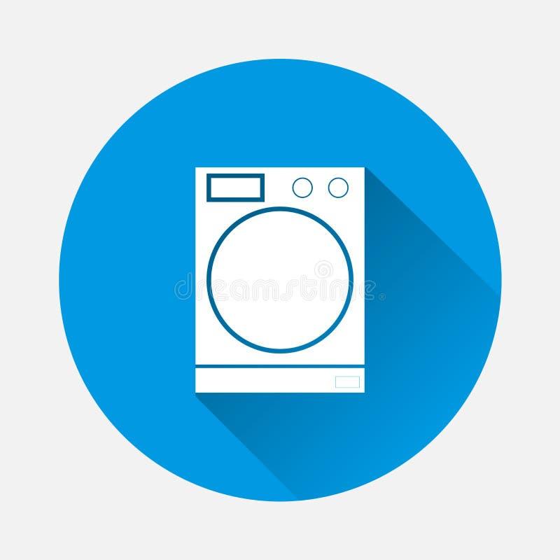 Pralka wektoru ikona Symbol suchy cleaning pos ilustracji
